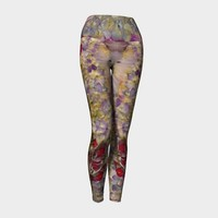 Red Blue Purple Floral Yoga Leggings * Abstract Floral Dance Leggings * Women's Flowered Leggings * Flower Workout Leggings *Floral Leggings