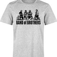 Firefighter Shirt, Band of Brothers, Fire Department T-Shirt Honors the Brotherhood in the Fire Services, Bravery & Courage
