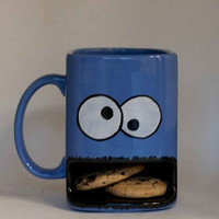 Cookie Monster mug by apiecebydenise on Etsy