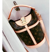 Louis Vuitton LV Fashion Women Leather Satchel Crossbody Shoulder Bag Bucket Bag