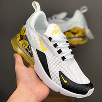 Nike Air Max 270 White Black Yellow Floral Running Shoes - Danny Online