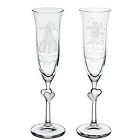Personalizable Cinderella and Prince Charming Glass Flute Set by Arribas -- 2-Pc. | Disney Store