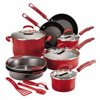 Rachael Ray Hard Enamel 15 Piece Cookware Set