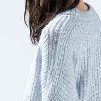 Batwing sleeved sweater