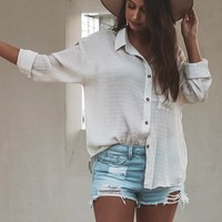 Be Cool Distressed Light Denim Shorts