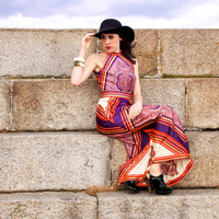 Kathryn, French Vintage, 1970s Paisley Maxi Dress, from Paris