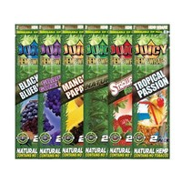 Box of Juicy Hemp Wraps (25 pck per box - 2 wraps per pck) 4 Flavors Available