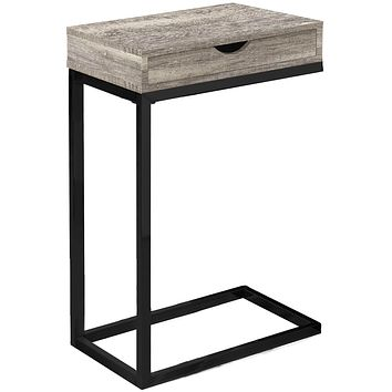 "Accent Table with Storage - 10'.25"" x 15'.75"" x 24'.5"" Taupe, Black, Particle Board, Drawer - Accent Table"