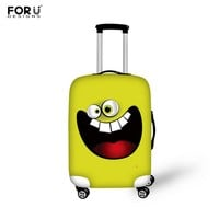 FORUDESIGNS Funny 3D Emoji Elastic Luggage Protective Covers With Zipper For 18-30 inch Travel Luggage Suitcase Rain Dust Cover