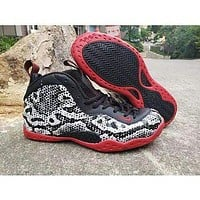 Air Foamposite One Snake Black/red