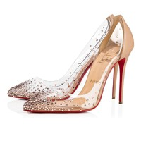 Christian Louboutin Cl Degrastrass Pvc matilda Matilda Nude 2 Strass 18s Bridal 1181081n016