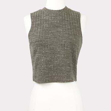 Mocha Knit Crop Top