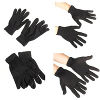 Pair Black Warmer Magic Gloves Hand Wrist Winter Cold Thermal Full Finger Soft Mitten Knit Stretchy AP = 1958289988