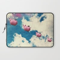When Pigs Fly Laptop Sleeve by RDelean