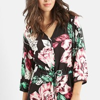 Women's KENDALL + KYLIE at Topshop Floral Print Romper