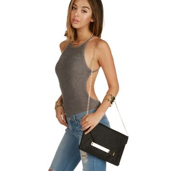 Taupe Cool Girl Ribbed Bodysuit