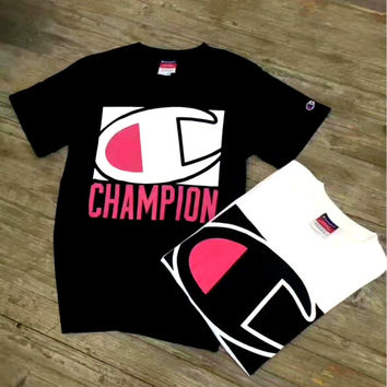 """Champion"" Unisex Casual Short Sleeve Shirt  Tee Top Blouse   G-A-GHSY"