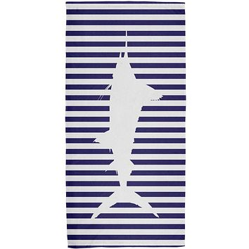 Sailfish Nautical Stripes All Over Bath Towel