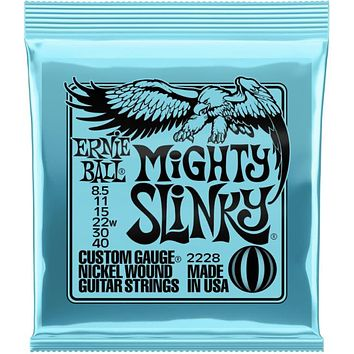 Ernie Ball Mighty Slinky Nickel Wound Electric Guitar Strings - .0085-.040
