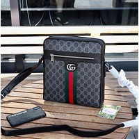 Gucci New Fashion Men's Monogram Check Clutch Bag Men's Business Bag Leisure Handbag Tote Satchel travel bag
