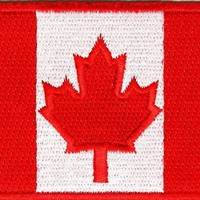 """Embroidered Iron On Patch - Canada Canadian Flag 3"""" x 2"""" Patch"""