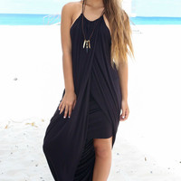 Pacific Coast Black Tulip Dress