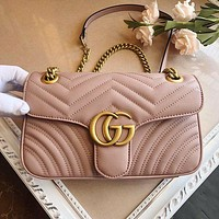 Louis Vuitton LV GG Fashion New Women Leather Shopping Shoulder Bag Handbag Crossbody Satchel Bag GG Pink