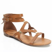 Breckelle Ruby-31 Open Toe Cut Out Gladiator Sandal TAN