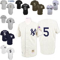 Grey 1939 Throwback Joe DiMaggio Authentic Jersey , Men's #5 Mitchell And Ness New York Yankees Fashion