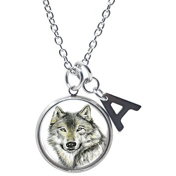 Wo-dreams Final Fantasy Cloud Wolf Head Pendant Necklace
