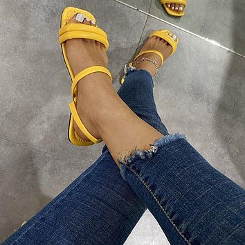 New women's casual flat sandals slippers shoes
