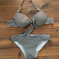 Straps Bandage Bikinis Women Swimsuit Bathing Suit