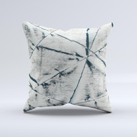 White Cracked Woven Texture ink-Fuzed Decorative Throw Pillow