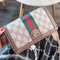 GUCCI New fashion more letter leather chain shoulder bag women