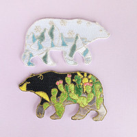 "Bear 3"" embroidered iron-on patch"
