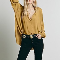 Free People Womens FP ONE Hallowed Hill Pullover