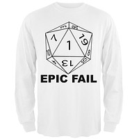 Epic Fail D20 Role Playing Game Adult Long Sleeve T-Shirt