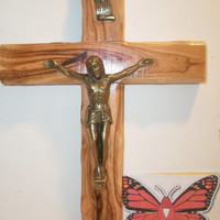 Jerusalem Wood Cross Crucifix Religious Wooden Wall Hanging Home Decor