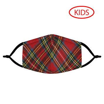 PLAID - KIDS MASK WITH (4) PM 2.5 CARBON FILTERS