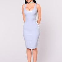 What The Faux Dress - Light Grey