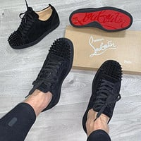 Christian Louboutin Black bottom nail casual shoes