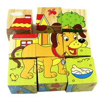 Hot Wooden Animals Fruit Vegetable Transport Kid Children Baby Wooden Educational Toy Cartoon Puzzle Baby Kid Puzzle Toy Gift