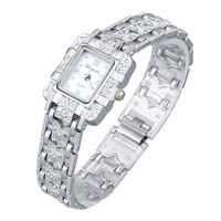 Popular Lady Bling Jewelry Stainless Steal Analog Wrist Watches Motre Luxe Women Watches CF