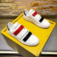 Moncler Men's Leather Fashion Low Top Sneakers Shoes-KUYOU