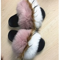 Mink Cody real fur Slides