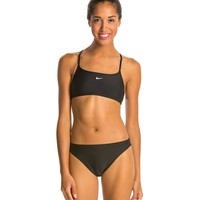 Nike Swim Nylon Core Solids Sport Top 2PC Swimsuit Set at SwimOutlet.com - Free Shipping