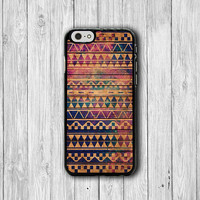 Red Tribal Geometric Aztec Vintage Phone Cases, 80s iPhone 6 Cover, iPhone 6 Plus, iPhone 5, iPhone 4S Hard Case, Rubber Case Deco Boss Gift