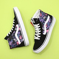 VANS SK8 couple skateboard shoes striped embroidered canvas casual sneakers shoes