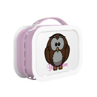 Cute Owl Lunch Box in Pink