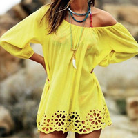 Yellow Cut Out Dress